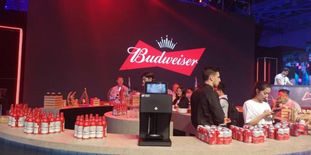 coffee latte printer in Budweiser show
