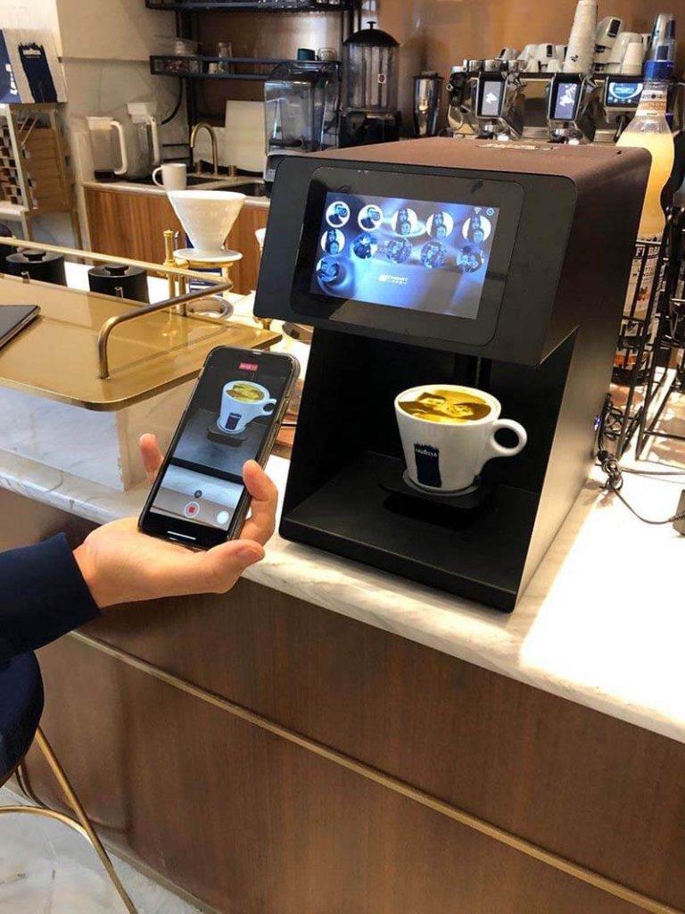 lavazza flagship store coffee printer