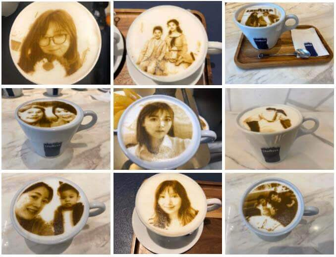 lavazza selfie coffee