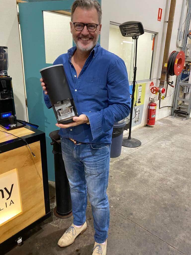 black automatic coffee tamper in Australia